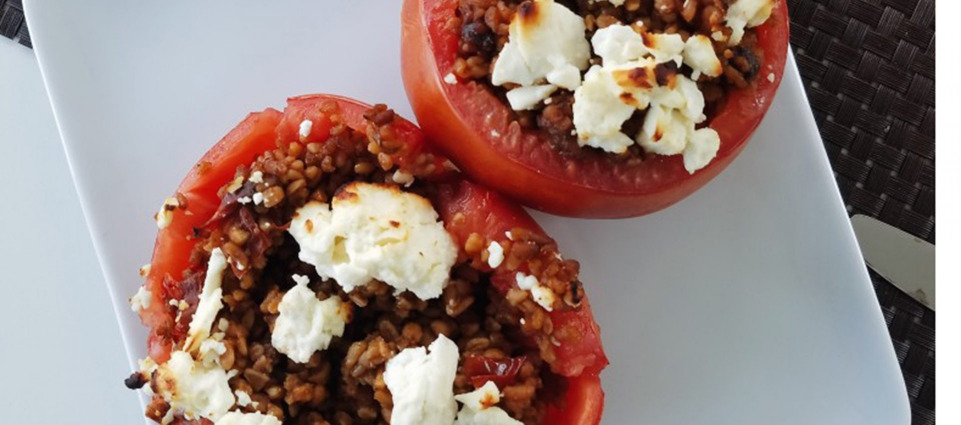 Wild Garden Bulgur Stuffed Tomatoes
